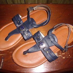 Tommy Hilfiger Girls Sandals Size 4 Strappy Navy